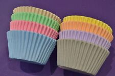 Cupcake Cases x 96 Pastel Colours  - Lilac, Pink, Lemon, Mint, Ivory, Blue, Grey