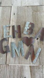 Reclaimed Barn Tin | Small Letters (MUST PURCHASE 3 MINIMUM FOR FREE SHIPPING)