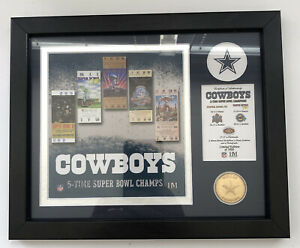 HIGHLAND MINT DALLAS COWBOYS 5 TIME SUPER BOWL CHAMPS LIMITED EDITION OF 5000