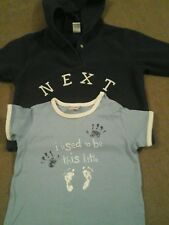 ☆Next Baby boys hooded fleece top and t-shirt aged 6-9 months ☆