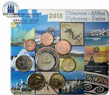 Grecia 3,88 euro 2013 stgl. KMS Mykonos 1 cent a 2 EURO IN BLISTER