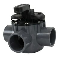 """3 Way Port PVC Diverter Valve 1.5 - 2"""" Plumbing For Swimming Pool and Spa 263037"""