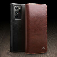 Qialino Genuine Leather Case Cover for Samsung S21 S20 Plus Ultra Note 20 S9 S10