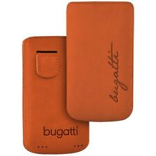 Bugatti Perfect Velvety Mandarin f Apple iPhone 4 / 4s Nubuk Leder Tasche