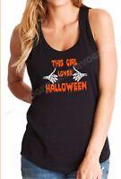 Tank Top This Girl Loves Halloween T Shirt Costume Funny Tee Humor Ladies