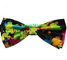 1 x mens ladies silk bow tie bowtie necktie fancy dress girl boy party graffiti