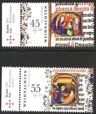 Christmas set of 2 stamps mnh Germany 2009 semi-postals