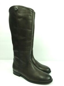 FRYE Women's Melissa Button 2 Tall Riding Smoke Leather Pull On Boots Size 9.5