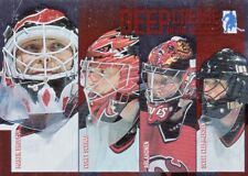 NEW JERSEY DEVILS, RARE 2003-04 BE A PLAYER MEM, DEEP IN THE CREASE GOALIES CARD
