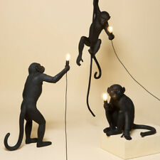 Resin Monkey Art Lamp Pendant Light Living Room Study Room With E27 Led Bulb New
