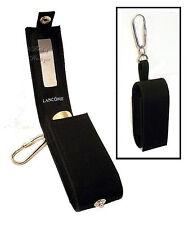 Lancome LIPSTICK CASE / Holder w/Mirror ~ Black Fabric ~ Key Ring Fob