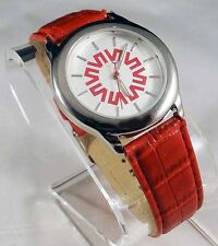 RARE WOMENS BEAUTIFUL EUROPA WATCH WITH A SYMBOL(HELP, WHAT IS IT?) + RED BAND