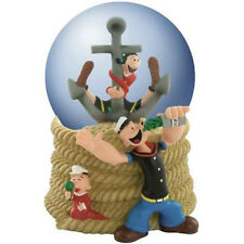 CLEARANCE PRICED Popeye And Family 100 mm Musical Water/Snow Globe