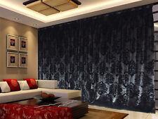 Long Thick Velvet Curtains Stunning Flocking 600x270cm + 4m blockout+30 Hooks