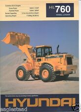 Equipment Brochure - Hyundai - HL760 - Wheel Loader - 1998 (EB530)