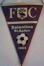 Orig.Wimpel    FC SALENTINA St.GALLEN (Schweiz) von 1984 //  34,5 cm  !!  SELTEN