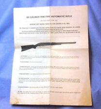 Savage Arms Stevens 187 22 Autoloader Rifle Owner's Instruction Manual Date 1974