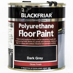 Garage Floor Paint 500ml Dark Grey Concrete Cement Brickwork Wood Hard Wearing