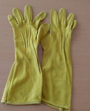 1930-40`s Kayser Rayon Antique gold Color Gloves 6 1/2 Sold as is