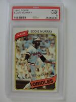 1980 Topps Baltimore Orioles #160 EDDIE MURRAY PSA 9 Mint Baseball Card
