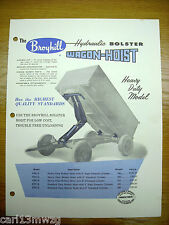 1957 Vintage Broyhill Hydraulic Wagon Hoist Brochure Literature Ad.