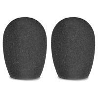 2 Bonnettes Anti Vent Pour Micro Diamétre 25 mm Couleur Noire
