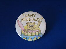 """Happy Bearthday"" Lot of 3 Buttons pins pinback 2 1/4"" badge Party Birthday kid"