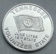 Tennessee Volunteer State 16th State Flower Iris Capitol Knoxville Coin Medal
