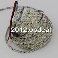 New 16Ft 5M White 120LED/M SMD 2835 600LEDs Strip DC12V Super Bright