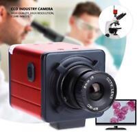 14MP Digital C-mount Industry Camera HD Microscope Video Recorder TV USB DVR Lab