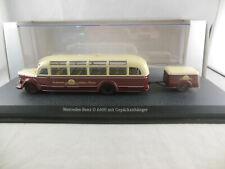 Schuco B6 604 2533 Mercedes Benz O 6600 coach & Trailer Stuttgarter 1:43 Scale