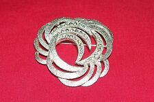 Vintage Eisenberg Ice Broach Old Costume Jewelry Pin Faux Diamond Rhinestone 1