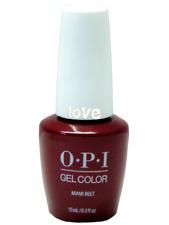 Opi GelColor New Gel Nail Polish Soak-Off Gc B78- Miami Beet
