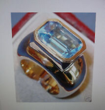 LONDON BLUE TOPAS 23 g 585 Gold *massiv* VK 2200 € NEU