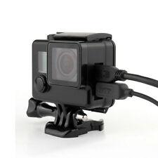 NUOVO Nero Scheletro Alloggiamento Custodia si adatta a GoPro Hero 3 3+ 4 con apertura laterale