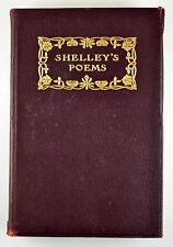 Shelley's Poems Antique Poetry Book Percy Bysshe Shelley Rare VG++