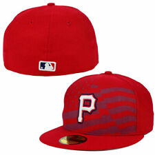 New Era Mens Pittsburgh Pirates Fitted Stars & Stripes Hat 59Fifty 7 3/8 5950