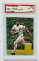 1994 Donruss Barry Bonds Special Edition GOLD Card #69, PSA 9 Mint, SF Giants!