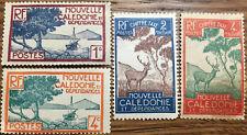 4 Sellos  Nueva Caledonia nuevos 1928 Yvert 139 y 141 Timbre taxe 26 y 27