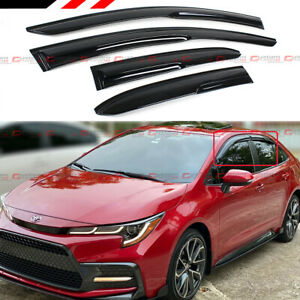 FOR 2020+ TOYOTA COROLLA 4DR SEDAN JDM 3D WAVY WINDOW VISOR RAIN GUARD DEFLECTOR