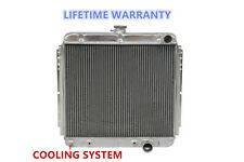 """Polished KKS 3 Rows Radiator Fit 1967-1970 Ford Mustang Falcon Many Models 20""""H"""
