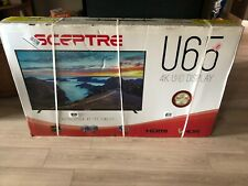"Sceptre 65"" Inch Class 4K UHD LED TV HDR U650CV-U Sceptre 65"" Slim NEW"