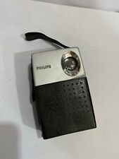 VINTAGE POCKET PHILIPS RADIO MW (AM) With Case FROM  1960S