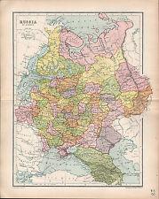 1903 MAP ~ RUSSIA IN EUROPE ~ FINLAND POLAND CRIMEA