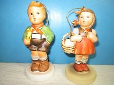 Lot of 2- Boy & Girl-1983 Schmid Christmas tree ornaments Reproduction of Hummel