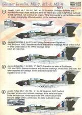 Print Scale Decals 1/72 GLOSTER JAVELIN Mk.7 Mk.8 & Mk.9 British Fighter Part 5