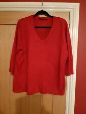 Ladies Size 22/24 with 3/4 sleeve v neck jumper
