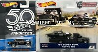 HOT WHEELS '55 CHEVY BEL-AIR GASSER & '66 SUPER NOVA RETRO RIG( BLACK )