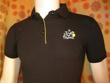 Ancien POLO CHEMISE NOIR LE TOUR DE FRANCE M FEMME Cycling Team T-Shirt Maillot