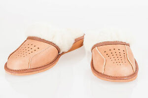 Women`s/Ladies Warm Slippers 100% Natural Leather&Sheepwool size:UK3,4,5,6,7,8